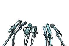 Fondo de la entrevista de muchos micrófonos libre illustration