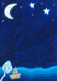 Fondo de la escena de la noche libre illustration