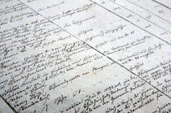 Fondo de la escritura de la vieja mano Fotos de archivo