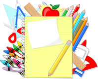Fondo de la escuela Imágenes de archivo libres de regalías