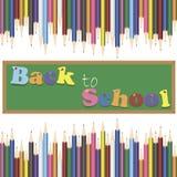 Fondo de la escuela con los lápices Imagen de archivo libre de regalías