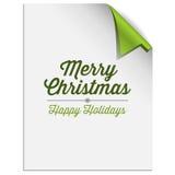 Fondo de la esquina de papel del árbol de navidad Imagen de archivo libre de regalías