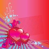 Fondo de la esquina del día de tarjetas del día de San Valentín Imagenes de archivo