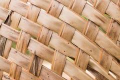 Fondo de la estera de la hoja del coco Foto de archivo libre de regalías