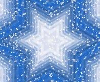 Fondo de la estrella azul del invierno Ilustración del Vector