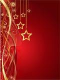 Fondo de la estrella de la Navidad Imagenes de archivo