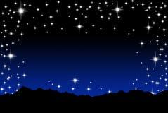 Fondo de la estrella y de la colina stock de ilustración