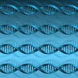 Fondo de la estructura de la molécula de la DNA Foto de archivo libre de regalías