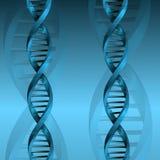 Fondo de la estructura de la molécula de la DNA Imágenes de archivo libres de regalías