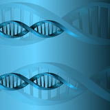 Fondo de la estructura de la molécula de la DNA Fotos de archivo libres de regalías