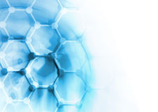 Fondo de la estructura de la molécula de la DNA Fotografía de archivo
