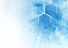 Fondo de la estructura de la molécula de la DNA Foto de archivo