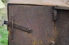 Fondo de la estufa vieja Fotografía de archivo