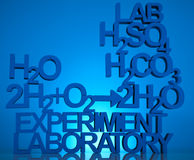 Fondo de la fórmula de la química fotos de archivo libres de regalías