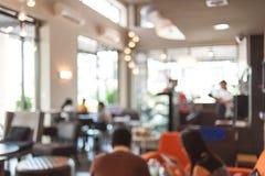 Fondo de la falta de definición de la cafetería Imagen de archivo