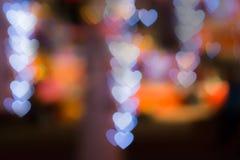 Fondo de la falta de definición de los corazones de Bokhe Imágenes de archivo libres de regalías
