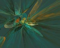 Fondo de la fantasía del fractal en sombras azules Fotos de archivo