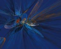 Fondo de la fantasía del fractal en sombras azules Fotografía de archivo libre de regalías