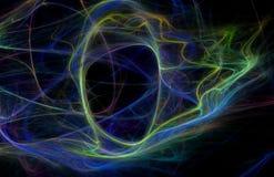 Fondo de la fantasía del fractal en sombras azules Imágenes de archivo libres de regalías