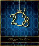 Fondo de la Feliz Año Nuevo 2018 foto de archivo libre de regalías