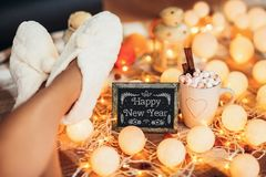 Fondo 2018 de la Feliz Año Nuevo Imágenes de archivo libres de regalías