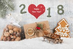 Fondo 2018 de la Feliz Año Nuevo Imagen de archivo libre de regalías