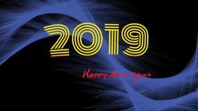 Fondo de la Feliz Año Nuevo 2019 imagen de archivo