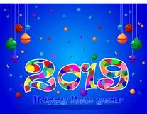 Fondo 2019 de la Feliz Año Nuevo libre illustration