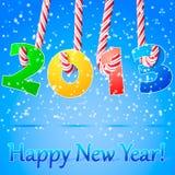 Fondo de la Feliz Año Nuevo 2013. ilustración del vector
