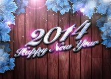 fondo de la Feliz Año Nuevo 2014 Imágenes de archivo libres de regalías
