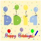 Fondo 2014 de la Feliz Año Nuevo Foto de archivo libre de regalías