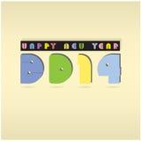 Fondo 2014 de la Feliz Año Nuevo Imagenes de archivo