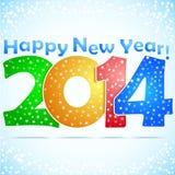 Fondo 2014 de la Feliz Año Nuevo libre illustration