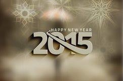 Fondo 2015 de la Feliz Año Nuevo Fotografía de archivo