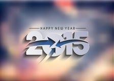 Fondo 2015 de la Feliz Año Nuevo Imágenes de archivo libres de regalías
