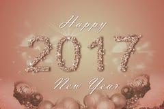 Fondo 2017 de la Feliz Año Nuevo Foto de archivo libre de regalías