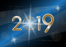 Fondo de la Feliz Año Nuevo del vector 2019 stock de ilustración