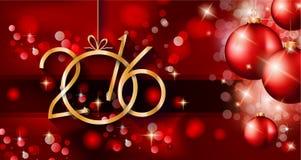 Fondo de la Feliz Año Nuevo 2016 para sus aviadores de la Navidad Fotografía de archivo