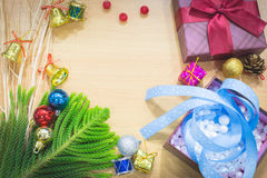 Fondo de la Feliz Año Nuevo y de la Feliz Navidad Imagen de archivo