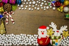 Fondo de la Feliz Año Nuevo y de la Feliz Navidad Fotos de archivo libres de regalías