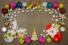 Fondo de la Feliz Año Nuevo y de la Feliz Navidad Imágenes de archivo libres de regalías