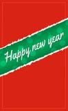 Fondo de la Feliz Año Nuevo y papel rasgado Foto de archivo