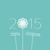 Fondo 2015 de la Feliz Navidad Imágenes de archivo libres de regalías