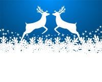 Fondo de la Feliz Navidad con los copos de nieve ilustración del vector