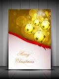 Fondo de la Feliz Navidad. EPS 10. Imágenes de archivo libres de regalías