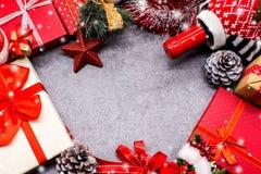 Fondo de la Feliz Navidad y de la Feliz Año Nuevo Fotos de archivo