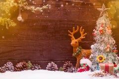 Fondo de la Feliz Navidad y de la Feliz Año Nuevo Imagen de archivo libre de regalías
