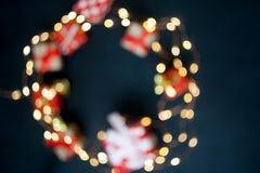 Fondo de la Feliz Navidad y de la Feliz Año Nuevo foto de archivo