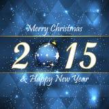 Fondo de la Feliz Navidad y de la Feliz Año Nuevo stock de ilustración