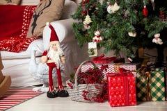 Fondo de la Feliz Navidad y del Año Nuevo Imagenes de archivo